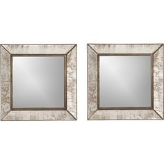 Dubois Square Antiqued Frame Mirrors. Need 2 sets for office. Crate and Barrel. $179.00