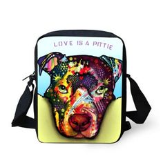 Colorful Dog Printed Shoulder Bags!