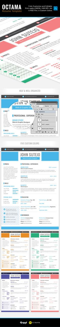 Free Resume Template Brand Id   Colors  Resume Cv And Template