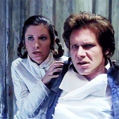 """Han's face when he hears of Vader's plans for Luke. He looks so angry. He's so weak, but he looks like he's getting ready to go and fight Vader with his bare hands. You can hear him thinking, """"Don't you dare. Don't you do anything to Luke. Don't you hurt him. Don't you TOUCH him!!!"""" And Leia looks like she's holding him back from killing Lando to go and attack Vader."""