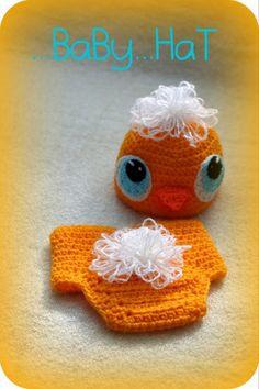 Kuřátko Baby Hats, Detroit, Crochet Earrings