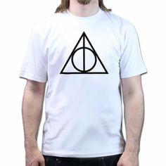 The Deathly Hallows Harry Potter Distressed Symbol T-shirt: Amazon.de: Bekleidung