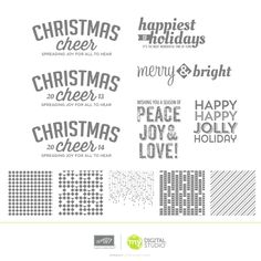 My Digital Studio | Happy Jolly Overlays Stamp Brush Set- Perfect for you holiday cards this year!