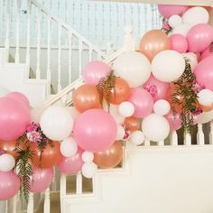 Beautiful organic garland in white, rose gold and pink pearl for the Bride to Be xxx www.helloballoons.com.au