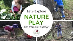 Nature Based Play doesn't need to be difficult! Explore these easy play ideas using natural materials shared by a passionate nature play FDC educator. Play Based Learning, Learning Spaces, Early Learning, Family Day Care, Teaching Kindergarten, Preschool, School Play, Forest School, What Is Need