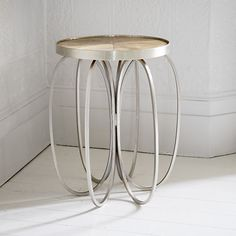 Elliptical Mango Wood & Iron Side Table