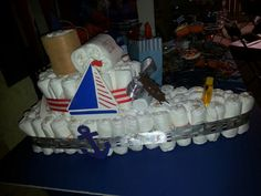 Anchor theme diaper boat