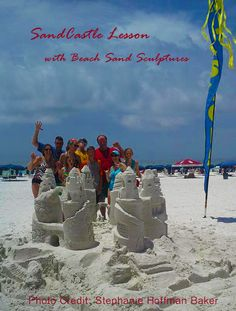 Pinned from Stephanie Hoffman Baker's post to Beach SandSculptures #SandCastle Lesons