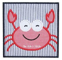 Crab Applique Design