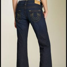 """NEW True Religion Brand Jeans 'Candice'!!! Final Mark Down!!! Authentic Brand new True Religion 'Candice' Jeans! Zip fly with button closure. Five-pocket style. Approx. inseam: 34"""". Approx. rise: front 7 1/2""""; back 12 1/2"""".. Dark Blue. Girm True Religion Jeans"""