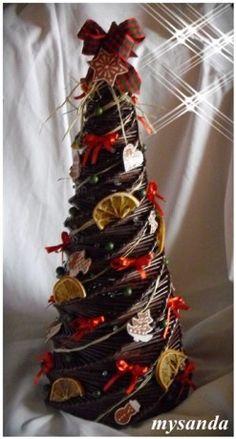 vánoční pletení z papíru 2011
