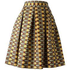 STELLA JEAN printed full midi skirt (1.870 BRL) ❤ liked on Polyvore featuring skirts, multicolour, mid calf skirts, multi colored skirt, calf length skirts, colorful midi skirts and brown midi skirt