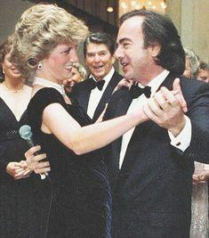 Princess Diana with Neil Diamond