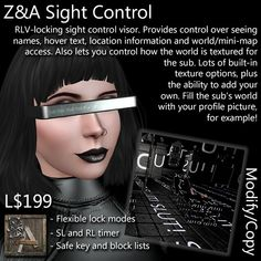 Introduction ==================== The Z&A Sight Control is a visor that is designed to give the dominant a great degree of control over how a s. How To Buy Land, Let It Be, Shit Happens