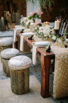 Inspiring ideas for a rustic themed wedding