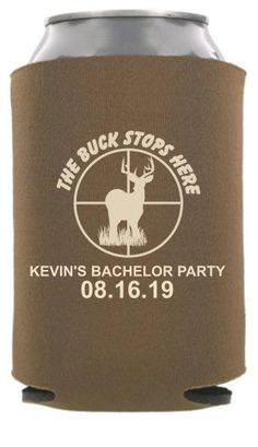 TWC-6698 - Hunting Bachelor Party Can Coolers - #bachelor #hunting