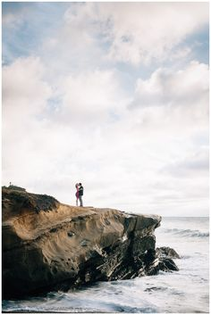 Sunset Cliffs Engagement Photos | Beach Engagement | Classic Engagement Outfit | Magenta | San Diego Engagement | Whiskers and Willow Photography