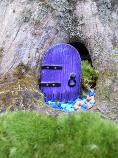 Fairy Door - Alyssia Fae Door Small- Terrariums, Fairy Gardens, Miniature Gardens - 3.250x2.250x.250 Die Stone Cast on Etsy, $13.99