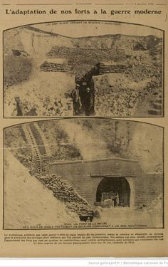 """WWI, 4 Nov 1916, Excelsior; """"Adjustment of our forts to modern warfare"""" -Gallica"""