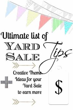 I break for yard sales, garage sales, auctions, junk on the curb and the occasional dumpster.  If this applies to you, read on.  Tips to have a profitable yard sale.  Enough to fill a downloadable ebook!!!   Country Design Style   countrydesignstyle.com