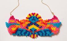 Hama Perler Bead DIY Necklace - DIY Necklace #DIY #Necklace
