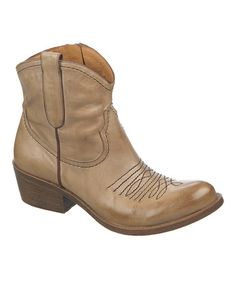 Love this Taupe Leather Sandy Boot on #zulily! #zulilyfinds