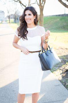 White Midi Dress   A Southern Drawl