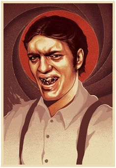Jaws - Portaits of James Bond Villains by MUTI