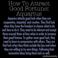 How To Attract Good Fortune For Aquarius