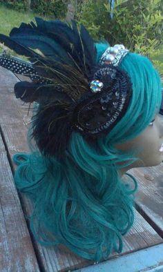Tribal Fusion Art Deco Bellydance Headband by GypsyDivas on Etsy, $54.00