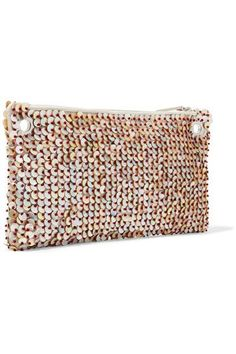 The Row - Party Time 10 Mother-of-pearl Embellished Raffia Shoulder Bag - Beige - one size
