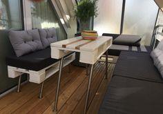 Europaletten lounge balkon