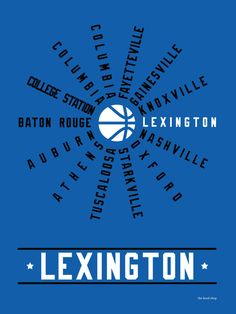 Lexington Kentucky SEC Conference Hood Print! $20