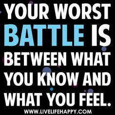 True! Feelings aren't truth.