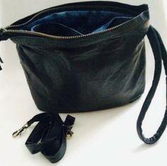 Nan&Nes#clutch#miniluiertas#leer#zwart#multibag