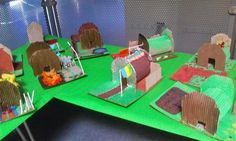 Art Anderson Shelter models from World War II. Art class at the elementary school. Class Displays, School Displays, Classroom Displays, World War 2 Display, Ww1 Display, History Activities, Teaching History, Craft Projects For Kids, School Projects