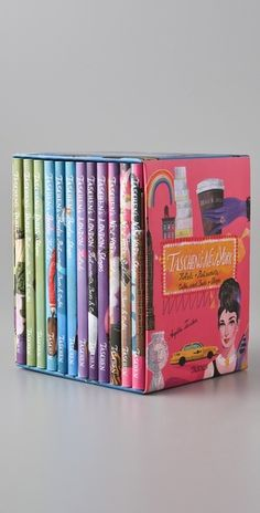 TASCHEN box set of 12 volumes - Paris, New York, London, and Berlin are each covered in three separate volumes for hotels, restaurants, and shops