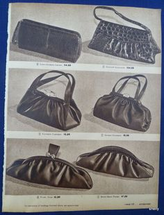 vintage spring ad | Womens Clothing Spring Summer Purses Wallets Vintage 1940s Sears ...