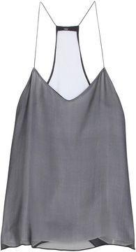 T-back grey silk cami Look Fashion, Womens Fashion, Trendy Fashion, Fashion Trends, Look Chic, Racerback Tank, Spring Summer Fashion, Dress To Impress, What To Wear