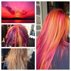 My inspiration for Erin today was a sunset theme! By using the pinwheel technique, I was able to achieve this look with pops of red, orange, yellow, pink and a mix of red and purple combined to make a burgundy shade all from the urban shock colour line. This truly is a sunset in paradise.