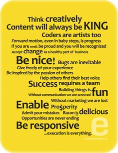 """Executionists present their very first """"Web Design Manifesto"""" -- Our words to live by for 2013 and beyond."""