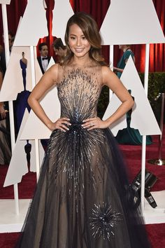Jamie Chung Photos - Actress Jamie Chung attends the Annual Academy Awards at Hollywood & Highland Center on February 2015 in Hollywood, California. - Arrivals at the Annual Academy Awards — Part 3 Sag Awards, Academy Awards, Strapless Dress Formal, Prom Dresses, Formal Dresses, Jamie Chung, Celebrity Red Carpet, Red Carpet Looks, Big Fashion
