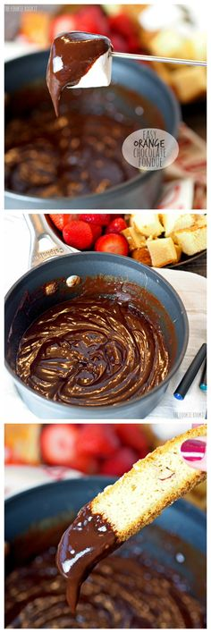 EASY Orange Chocolate Fondue! Perfect for the holidays or any party | The Cookie Rookie