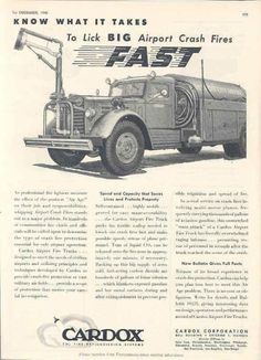 Airport Crash Truck Advert