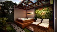 Hot Tub Garden, Hot Tub Backyard, Backyard Patio, Hot Tub Pergola, Jacuzzi Outdoor, Outdoor Spa, Natural Swimming Pools, Natural Pools, Rooftop Terrace Design