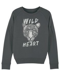 WILD HEART KOLLEKTION - Ladies Organic Sweatshirt – FAMILY BY HEART Wild Hearts, Organic, Sweatshirts, Lady, Sweaters, Fashion, Cotton, Moda, Fashion Styles