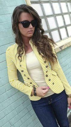 Yellow striped jacket