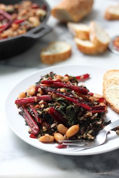 swiss chard pancetta and white bean stir fry so quick and flavorful ...