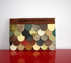 Scraps of Colorful Leather Made Into Beautiful Wallets and Card Holders!