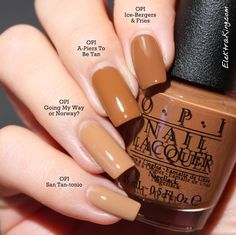 OPI Ice-bergers & Fries OPI A-Piers To Be Tan OPI Going My Way or Norway? OPI San Tan-tonio